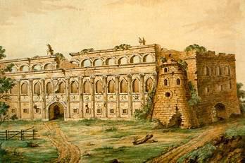 Ištrauka iš 1737 m. Vilniaus Fiurstenhofo plano